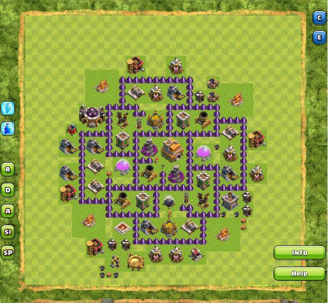 Cara Membuat Base Coc Th 7 9