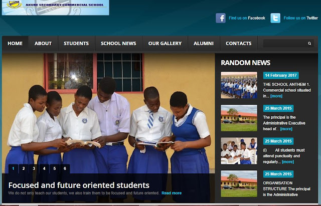 School Website for Akure Secondary Commercial School by Eagles Technology Solutions