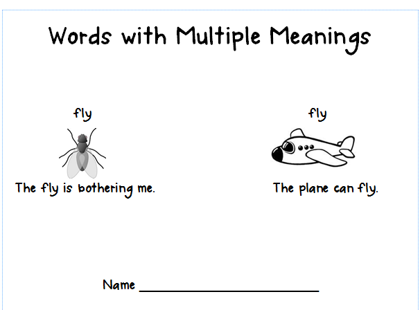 All Worksheets » Multiple Meaning Words Worksheets