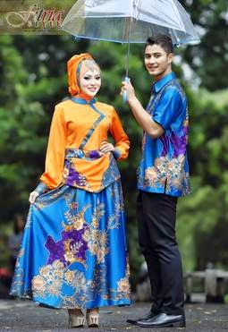 Contoh model baju muslim couple modern