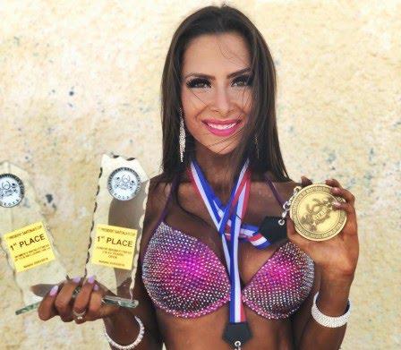 Νικήτρια στη κατηγορία Bikini η Timea Trajtelova στους διεθνείς αγώνες σωματικής διάπλασης στο Ναύπλιο