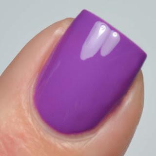 violet creme nail polish