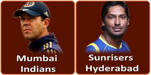 मुम्बई इंडियन्स बनाम सनराईज़र्स हैदराबाद 13 मई 2013 को है।