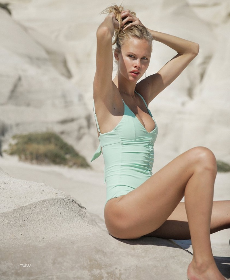 Tori Praver Resort 2017 Swimwear Lookbook featuring Emma Stern