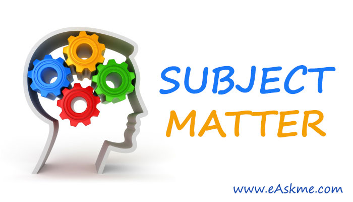Tips to Choose Subject Matter: eAskme