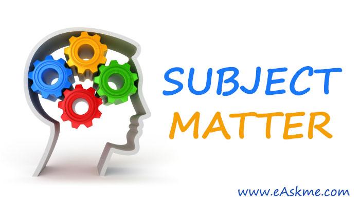 Tips to Choose Subject Matter: eAskme