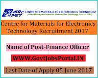 Centre for Materials for Electronics Technology Recruitment 2017– Finance Officer