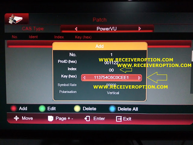 COBOX HD RECEIVER POWERVU KEY OPTION