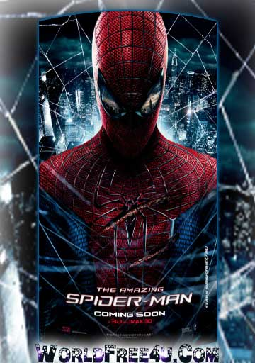 Poster Of Free Download The Amazing Spider-Man 2012 300MB Full Movie Hindi Dubbed 720P Bluray HD HEVC Small Size Pc Movie Only At worldfree4u.com