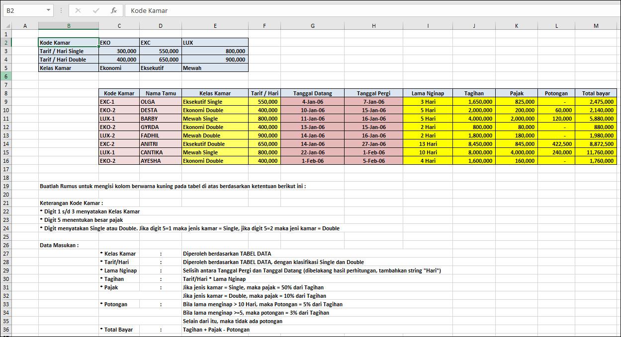 Contoh Soal Excel Concatenate Dan Days Belajar Excel