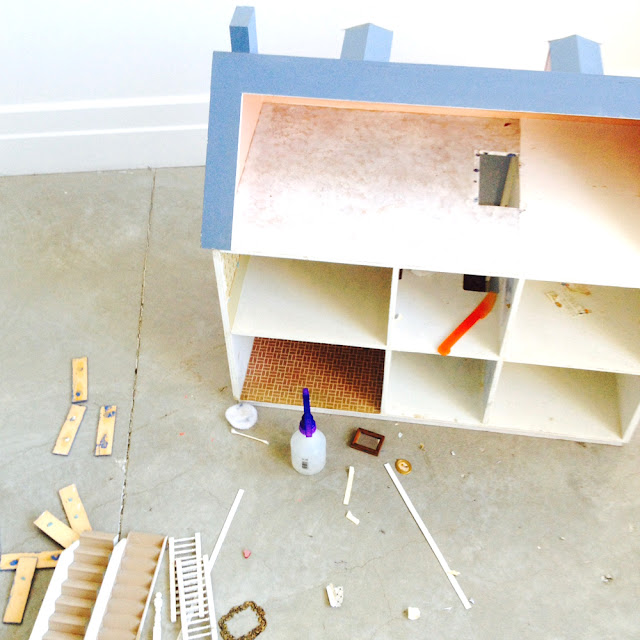 Dollhouse Renovation Part 2 | Linzer Lane Blog | Make Over Your Old Dollhouse! Comment to Join ;)