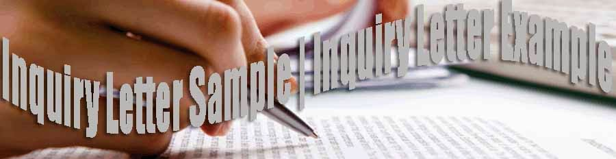 Effective Business Communication Inquiry Letter Sample Inquiry