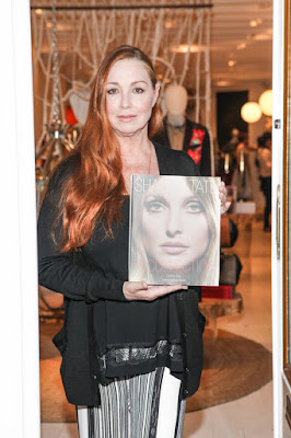 "Debra Tate at a 2014 party for her book ""Sharon Tate: Recollection"""