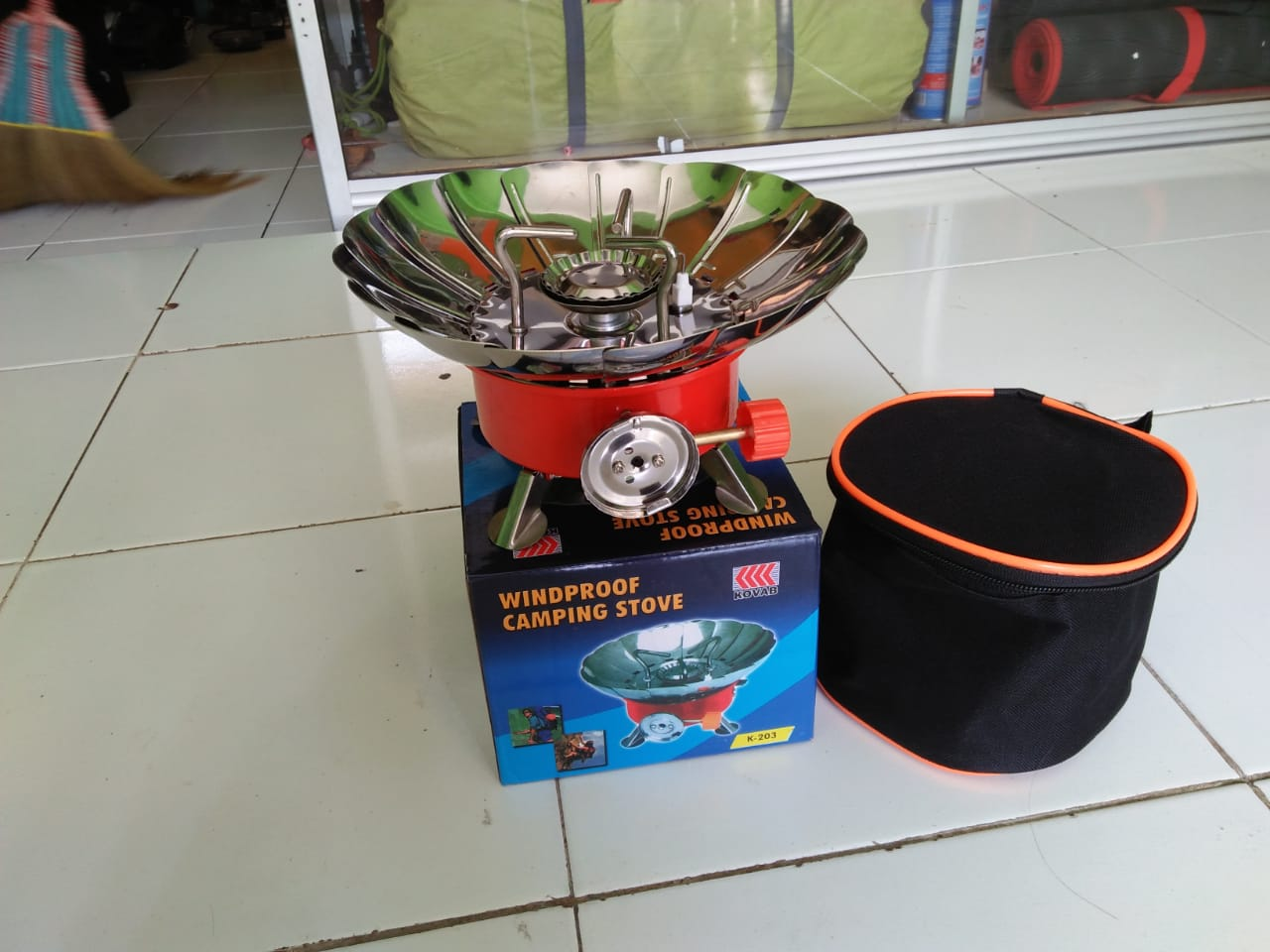 Jual Kompor Portable Windproof Murah Krakatau Jogja Mini Stove Lapang