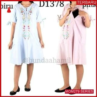 MOM279D14 Dress Hamil Menyusui Modis Angelina Dresshamil Ibu Hamil