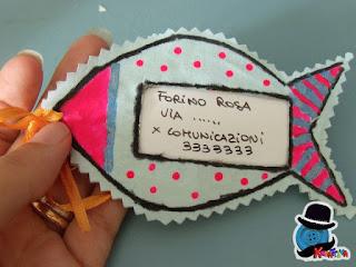 tutorial etichetta da valigia pesciolino colorato di kreattiva