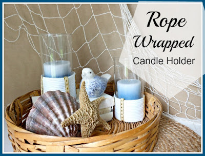 Vintage, Paint and more... Rope  wrapped candle holders