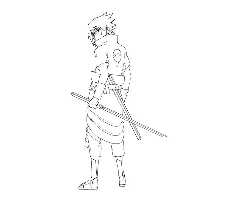 sasuke uchiha coloring pages - photo#29