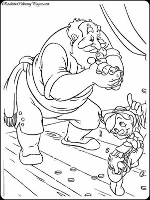 coloring pages of pinocchio