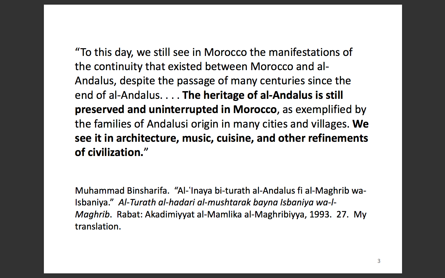 Maghrib in Past & Present   Podcasts: Colonial Andalus