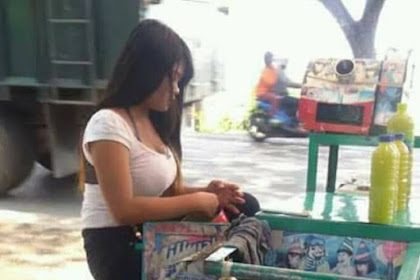 Dada Wanita Cantik Penjual Es Tebu Ini Bisa Bikin Pembeli Salah Fokus!