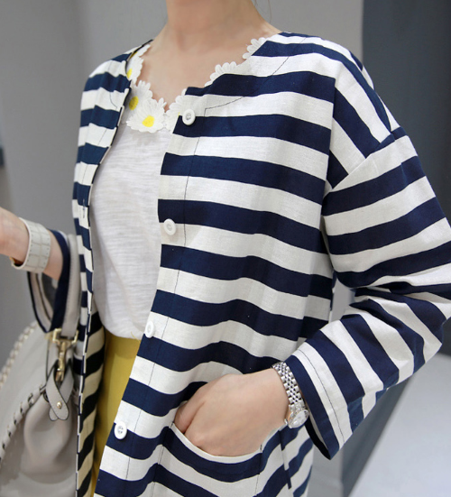 Striped Button-Down Jacket