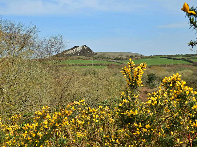 China clay hills in Cornwall
