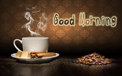 Good Morning With Coffee Cup HD Wallpaper