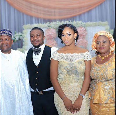 Africa's richest man Dangote attends wedding of son of Nigeria's biggest cement distributor (pics)