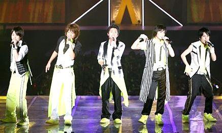Foto de Arashi en el escenario