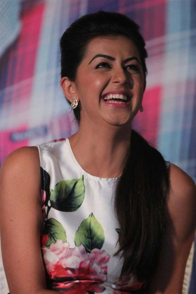 Nikki Galrani Stills In White Top At Movie Press Meet