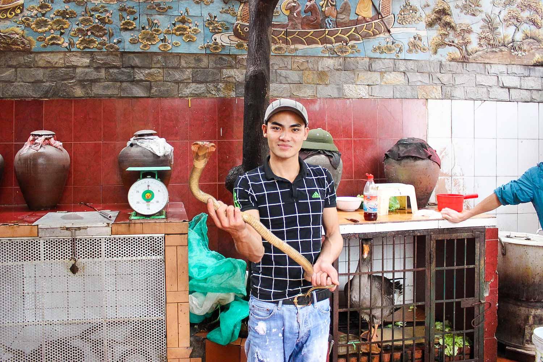 snake restaurant nguyen van duc