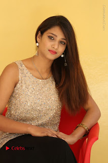 Tollywood Upcoming Actress Arthi Stills in Black Skirt at Plus 1 Movie Trailer Launch  0072.JPG
