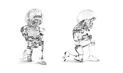 The Messenger Clear Edition Resin Figure by Munky King x kaNO