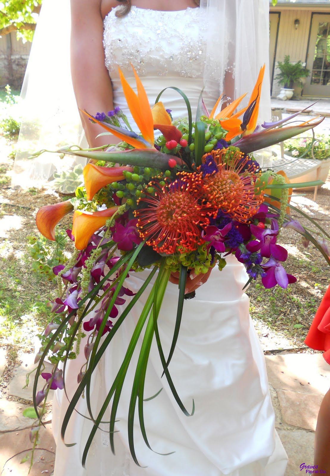 Graves Floral Co.: Blog Feature: Tropical Paradise Bridal ...