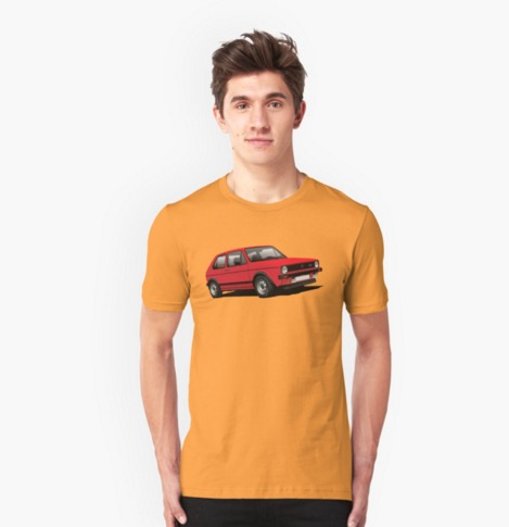 Redbubble VW Golf GTI Mk1 t-shirt red