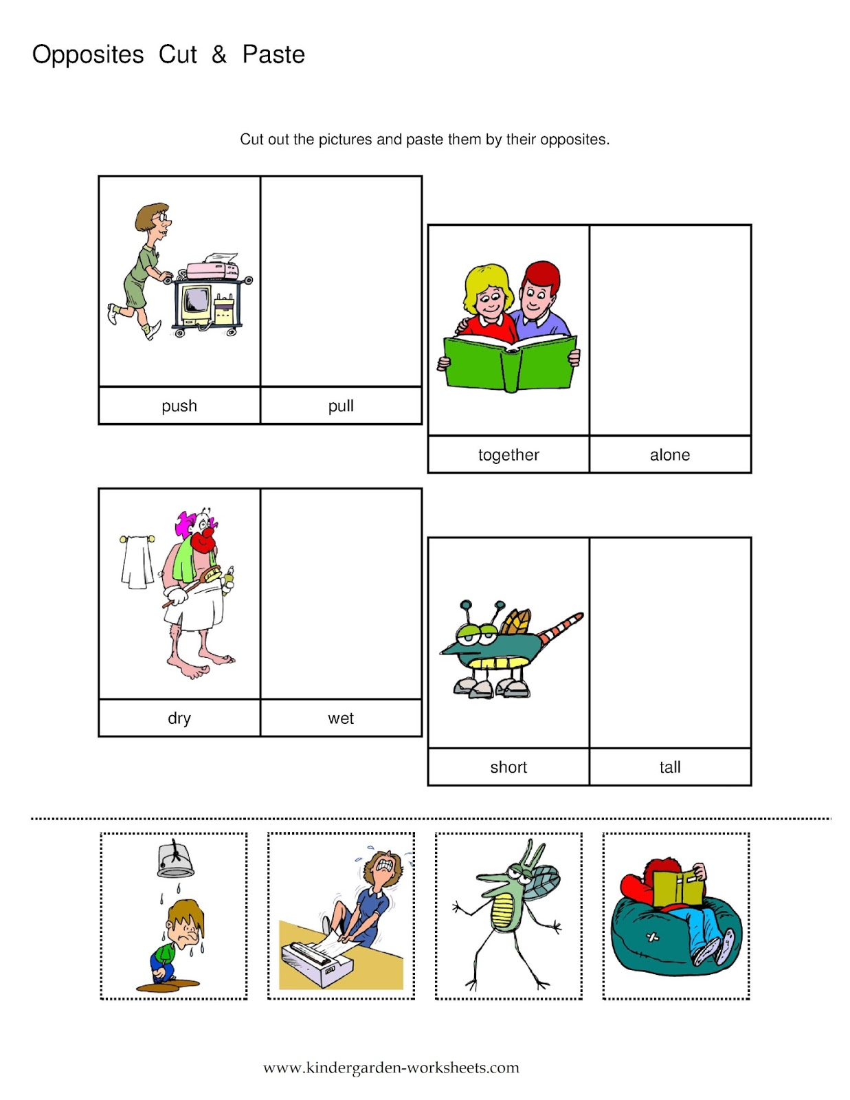 Primary Subtraction Cut And Paste Worksheet