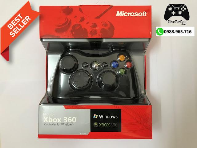Tay Cầm Xbox 360 Có Dây Chĩnh Hãng Chơi Game Tối Ưu Cho PC / FO3 / FO4