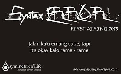Sebuah Nama Sebuah Cerita, Syntax ERROR!