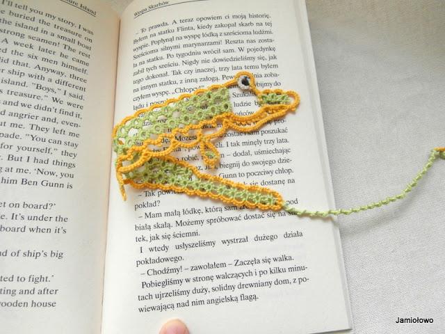 frywolitkowa zakładka do książki