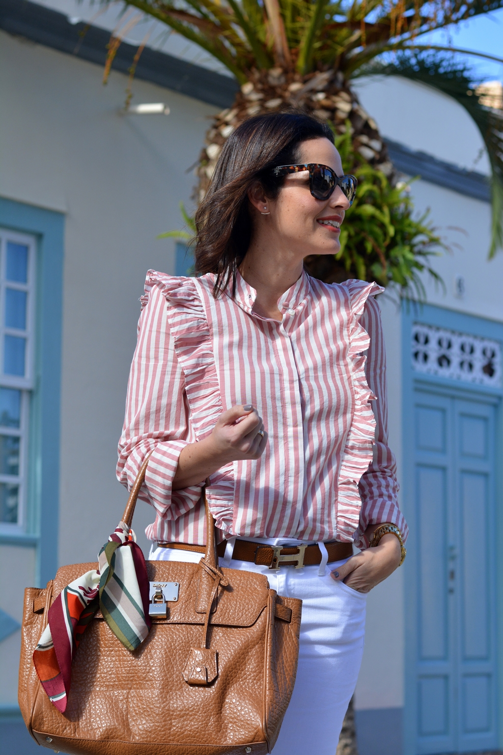 outfit-camisa-volantes-h&m-streetstyle