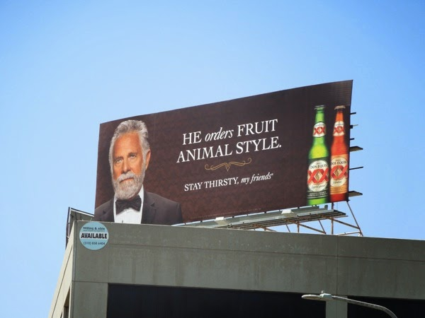 Dos Equis orders fruit animal style billboard