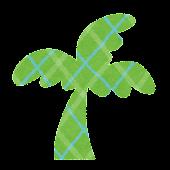 夏のマーク「ヤシの木」