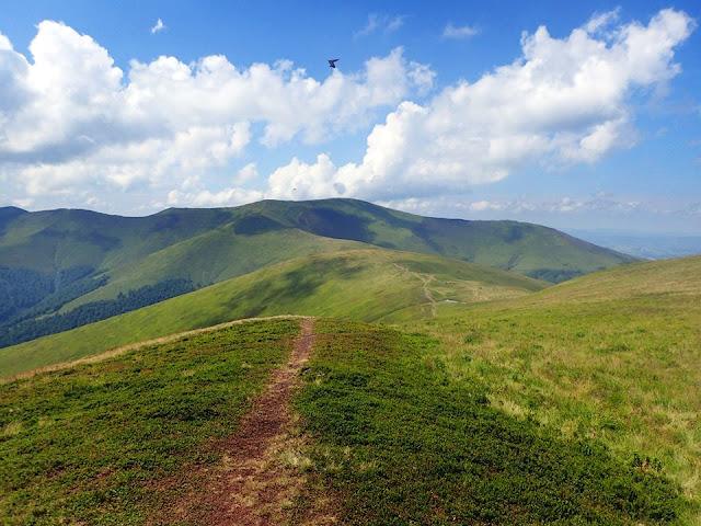 Widok na główny grzbiet Borżawy