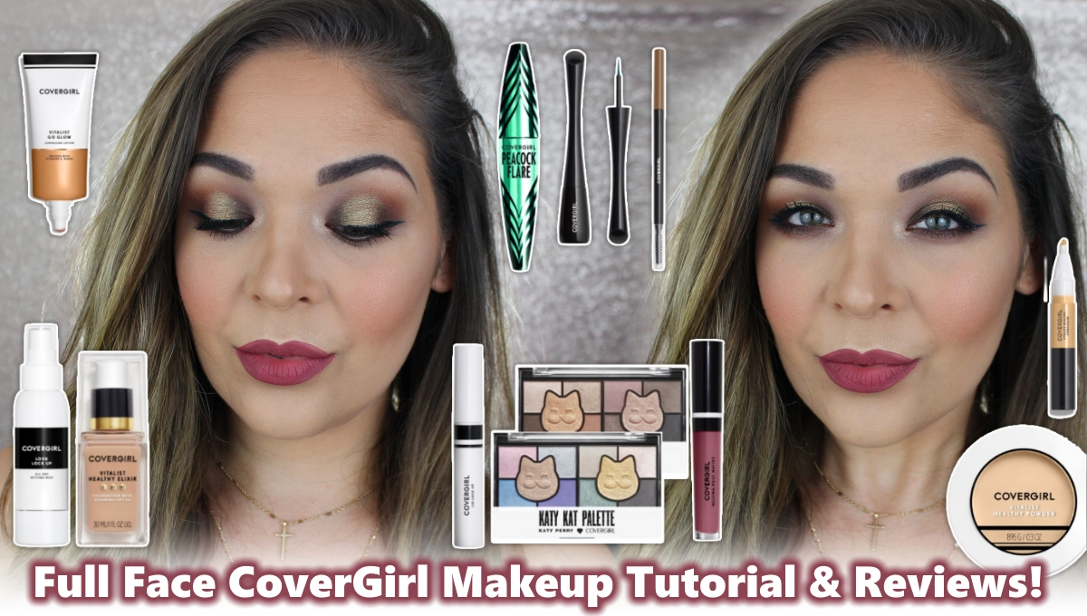 Full Face COVERGIRL Makeup Tutorial and Reviews