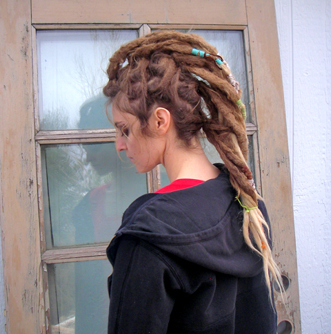 Groovy Painting On The Road Wild Hair Wednesday Fishtail Faux Hawk Hairstyle Inspiration Daily Dogsangcom