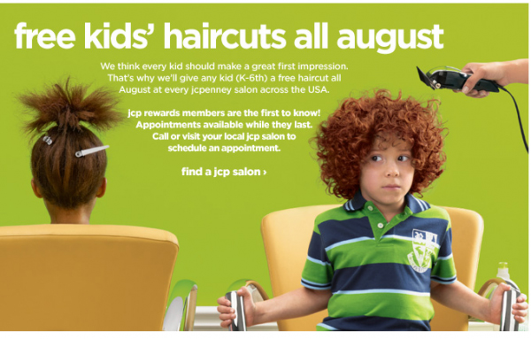 back to school haircut specials fashion herald back to school free haircuts at jcpenney 1761