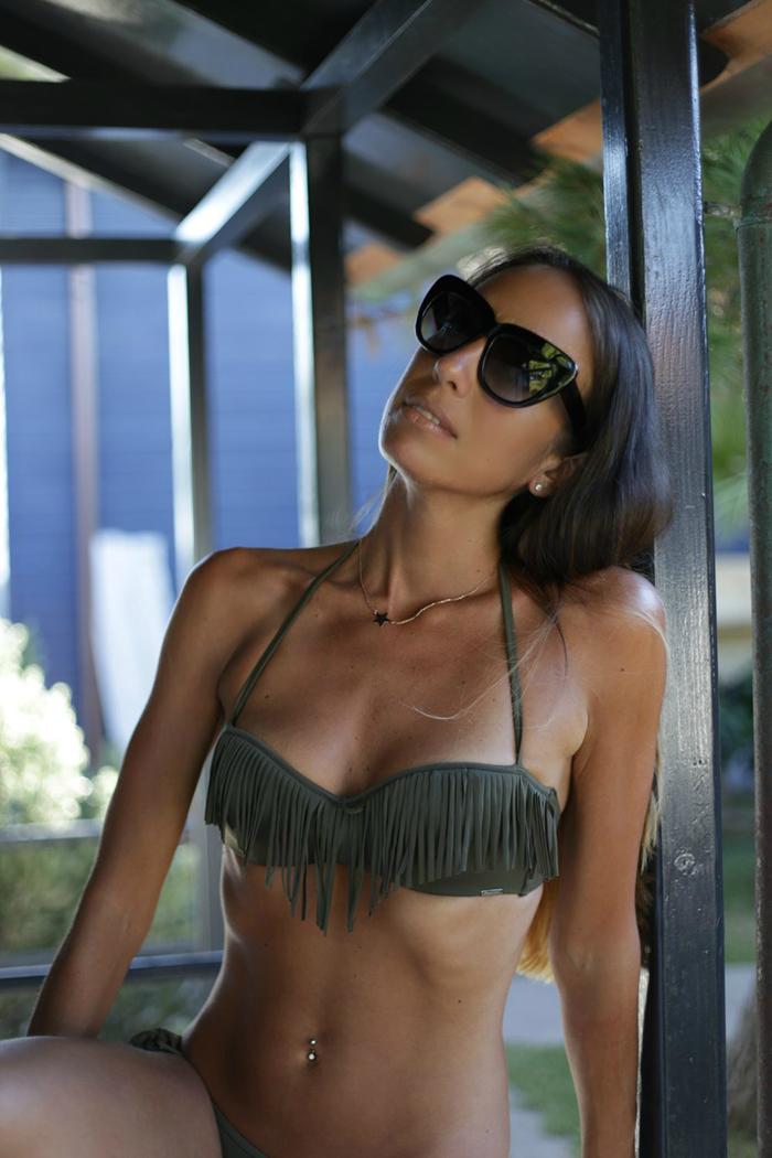 bikini balconcino con frange