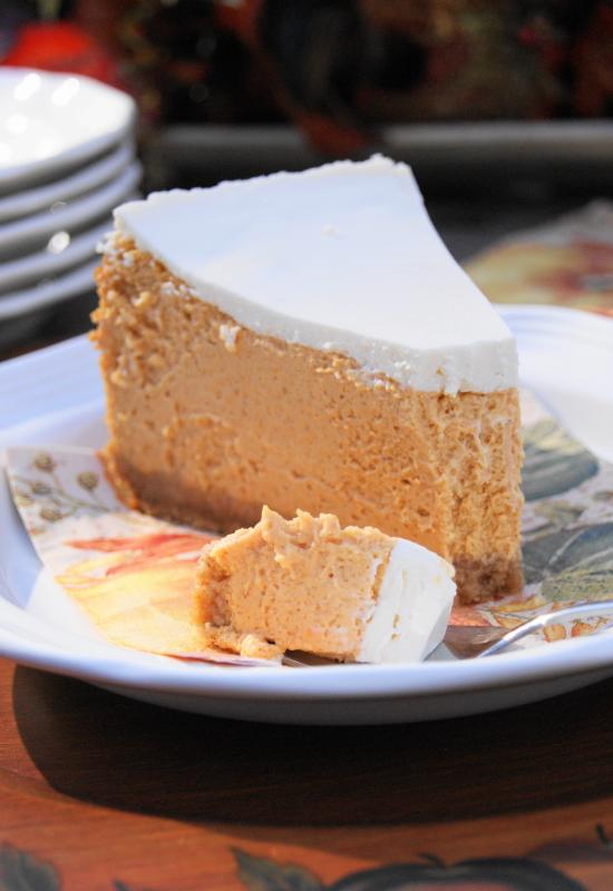 Creamy Pumpkin Cheesecake | The Kitchen Is My Playground