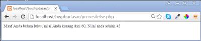 Contoh Logika IF ELSE di PHP